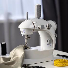 Швейная машинка LuazON LSH-02, 5 Вт, компактная, 4xАА или 220 В, белая Ош