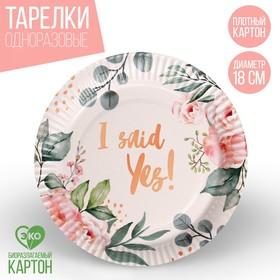 Тарелка бумажная «С Днём Рождения! Лошадка», 18 см