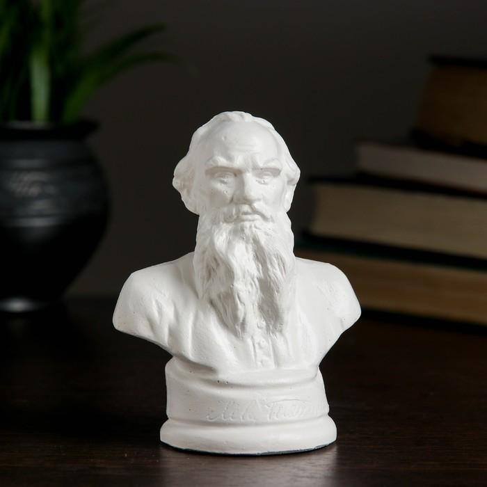 Бюст Толстой белый, 6911см
