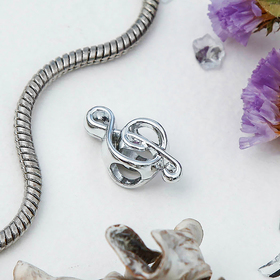 Талисман 'Скрипичный ключ', цвет серебро Ош