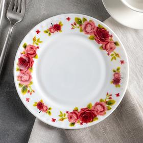 Тарелка десертная Доляна «Поэзия роз», d=17,5 см