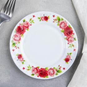 Тарелка пирожковая Доляна «Поэзия роз», d=15 см
