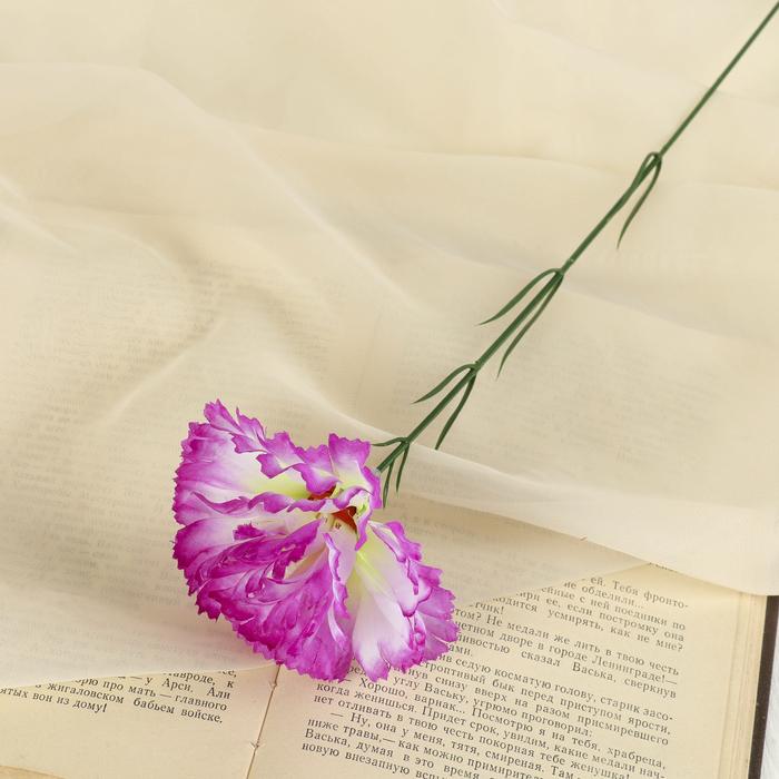 Цветы искусственные гвоздика 37 см сиреневы