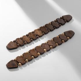 Чётки перекидные деревянные 'Змейка' цвет МИКС Ош