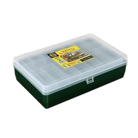 Коробка 'Тривол' ТИП-2, двухъярусная, 235х150х65 мм, цвет тёмно-зеленый Ош