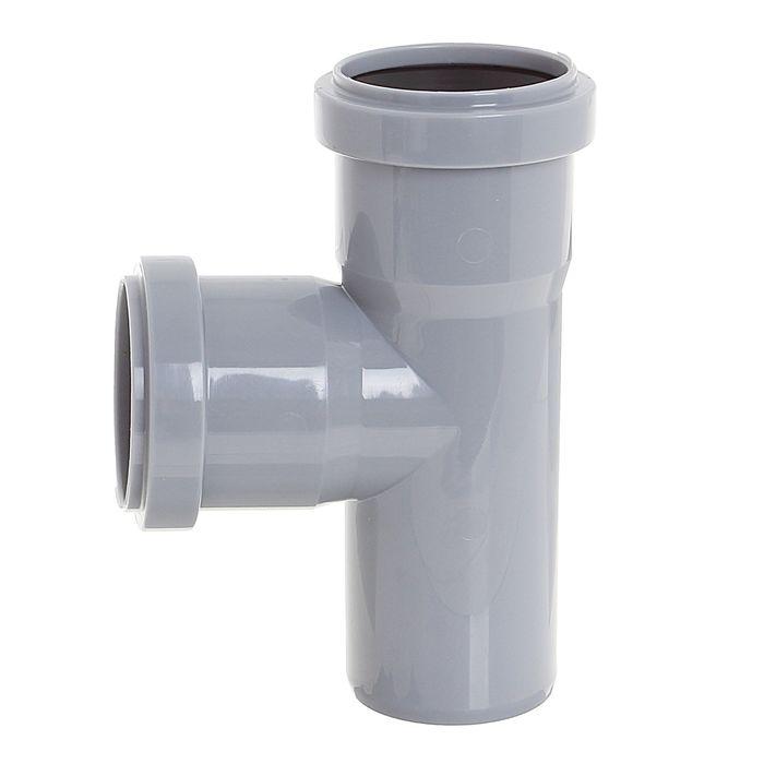 Тройник, канализационный, 50 х 50 мм, 90°