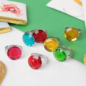 Кольцо детское 'Ассорти' клевер, цвет МИКС, безразмерное Ош