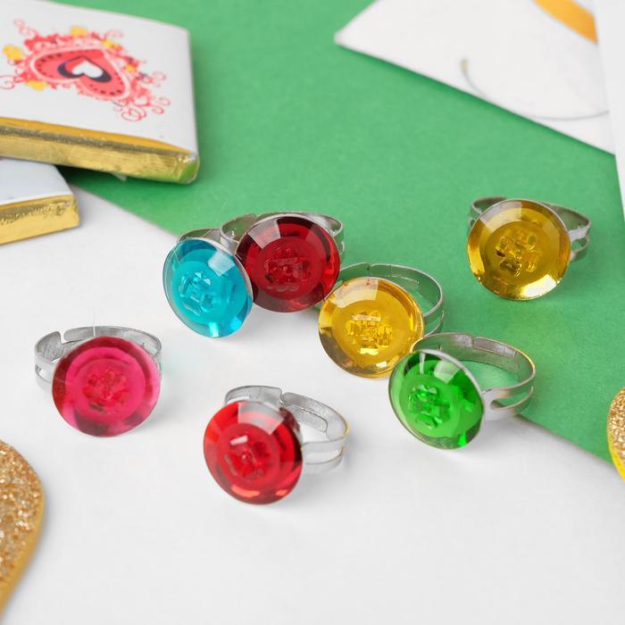Кольцо детское Ассорти клевер, цвет МИКС, безразмерное