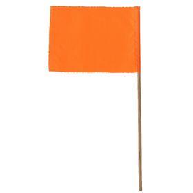 Флажок, длина 40 см, 15 х 20, цвет оранжевый Ош