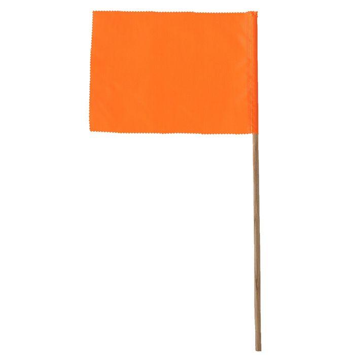 Флажок, длина 40 см, 15 х 20, цвет оранжевый