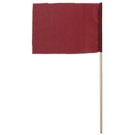 Флажок, длина 40 см, 15 х 20, цвет бордовый Ош
