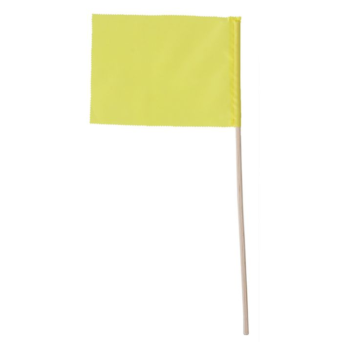 Флажок, длина 40 см, 15 х 20, цвет жёлтый