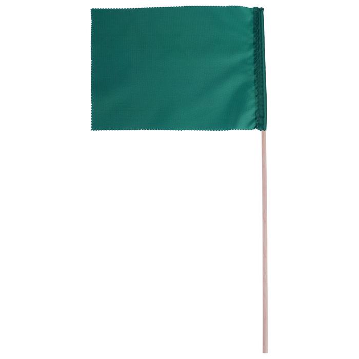 Флажок, длина 40 см, 15 х 20, цвет зелёный
