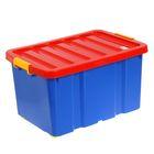 Ящик для игрушек Plast team Jumbo, 60 л, на роликах с крышкой
