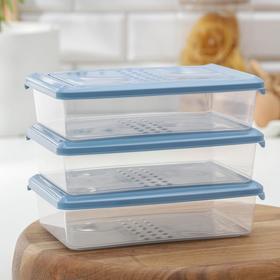 Набор контейнеров пищевых 750 мл Pattern, 3 шт, цвет МИКС