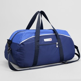 Сумка спортивная, отдел на молнии, наружный карман, цвет синий/голубой