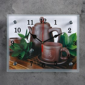 """Часы настенные, серия: Интерьер, """"Японский чайный набор"""", 20х25  см, микс"""