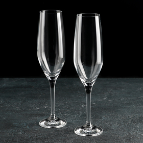 Набор бокалов для шампанского Bohemia Crystal «Аморосо», 200 мл, 2 шт