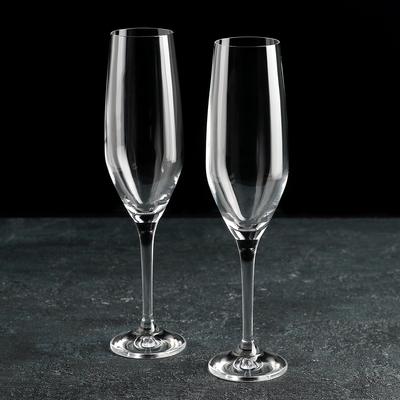 Набор бокалов для шампанского Bohemia Crystal «Аморосо», 200 мл, 2 шт - Фото 1