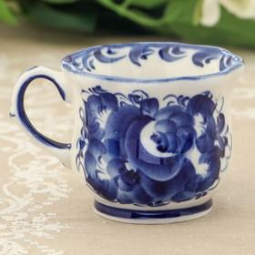 Чашка «Улыбка», 11×9×8 см, гжель