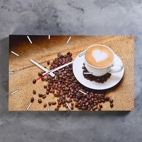 Часы настенные, серия: Кухня, 'Кофейная фантазия', 61х37 см микс Ош