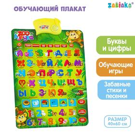 Обучающий электронный плакат «ZOO Азбука», работает от батареек Ош