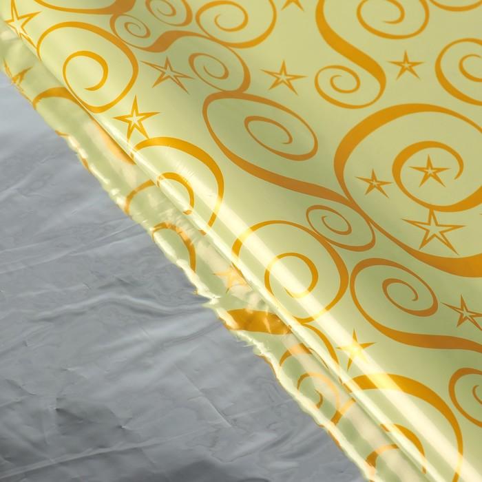 Пленка голография Узор, золотой, 70 х 100 см
