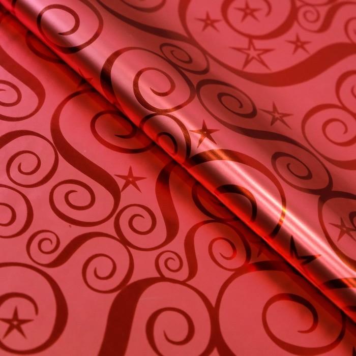 Пленка голография Узор, красный, 70 х 100 см