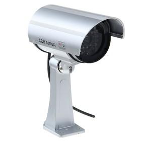 Муляж видеокамеры LuazON VM-2, со светодиодным индикатором, 2хАА (не в компл.), серый Ош