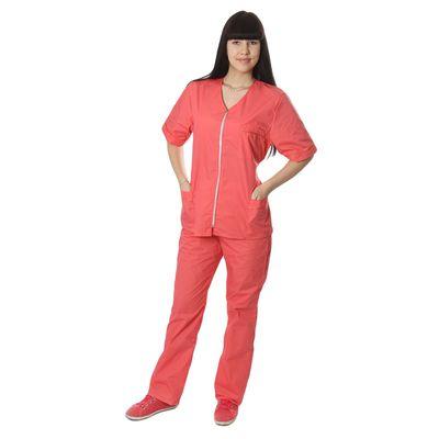 """Костюм медицинский женский """"Ксения"""", размер 48-50, рост 170-176 см, цвет розовый"""