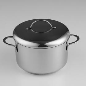 Кастрюля «Гурман-Классик», 1,5 л, d=16 см, металлическая крышка, капсульное дно, цвет хромированный