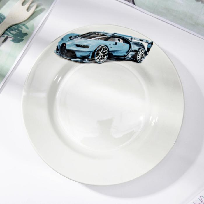 Тарелка мелкая «Гонки», d=17,5 см, рисунок МИКС