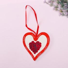 Подвеска декор 'Сердце. Букет' Ош