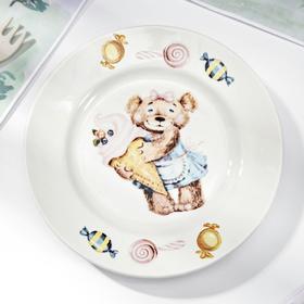 Тарелка мелкая «Медвежата», d=17,5 см, МИКС