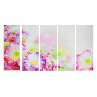"""Картина модульная на подрамнике """"Тайские цветы"""" 5-30х80 см"""