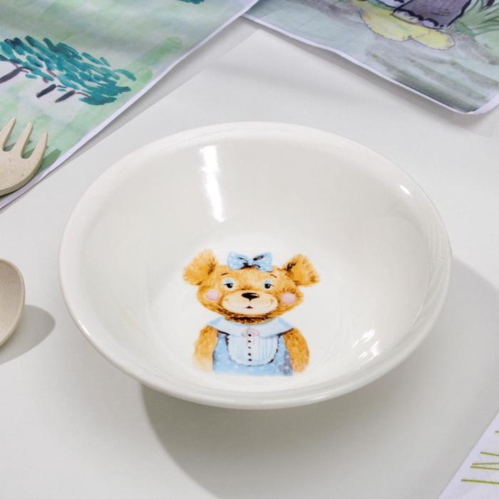 Салатник 270 мл, d13,5 см, h4,5 см Медвежата , рисунок МИКС
