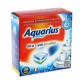 Таблетки для посудомоечных машин Aquarius All in1, 28 шт.