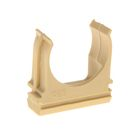 Крепеж-клипса для труб, d=25 мм, в наборе 10 шт, цвет светлого дерева