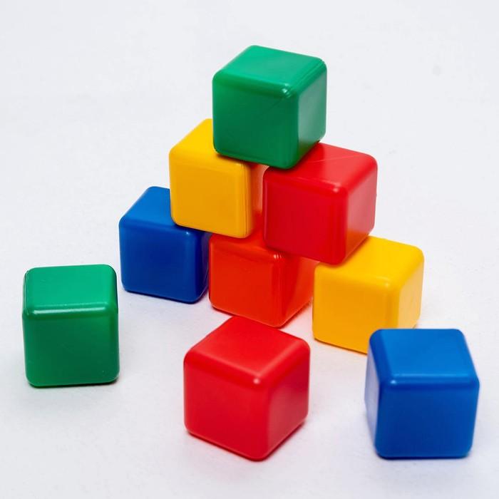 Набор цветных кубиков, 9 штук, 4 4 см