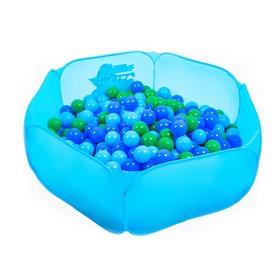 Шарики для сухого бассейна с рисунком, диаметр шара 7,5 см, набор 60 штук, цвет морской Ош