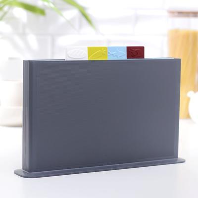 Набор разделочных досок 35х23 см с маркерами, на подставке, 4 шт - Фото 1
