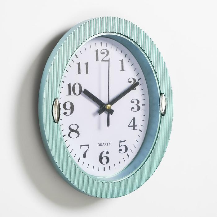 Часы настенные, серия Классика, Бенедатта, 19х22 см, голубые