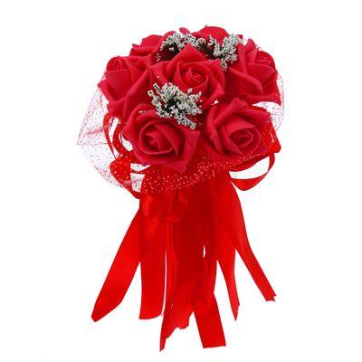Букет «С нежностью», 7 цветов, красный