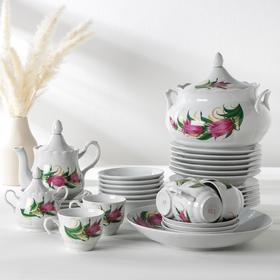 Набор столовой посуды «Идиллия. Колокольчики», 34 предмета