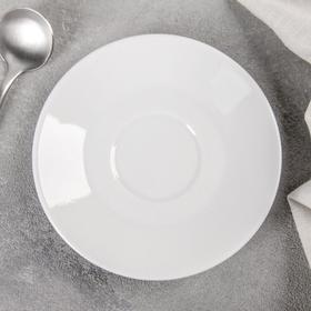 Блюдце «Бельё», d=11,5 см, цвет белый
