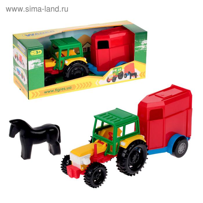 Трактор с прицепом и фигуркой, МИКС