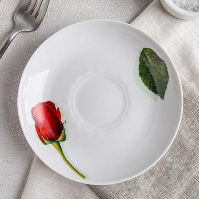 Блюдце «Королева цветов», d=15 см - Фото 1