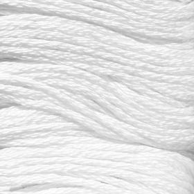 Нитки мулине, 8 ± 1 м, цвет белый №0415