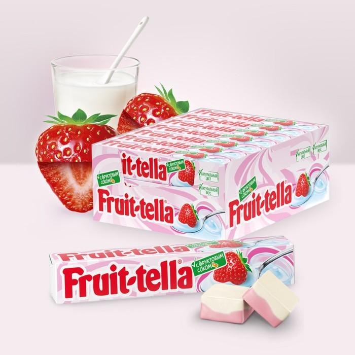 """Жевательная конфета Fruittella, """"Клубничный йогурт"""", 42,5 г"""