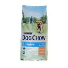 Сухой корм DOG CHOW PUPPY для щенков, курица, 14 кг